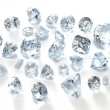 Royalty-Free Stock Photo: Diamond gemstone isolated on white background