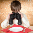 Stock Photo: Child with binoculars