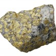 Stock Photo: Mineral collection: chalcopyrite.