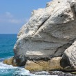 The white chalk cliffs of Rosh ha-Hanikra — Stock Photo