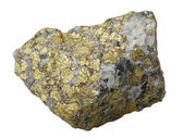 Mineral collection: chalcopyrite. — Stock Photo