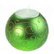 Souvenir Christmas candle as a sphere form — Stock Photo