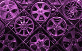 Purple background of rims — Stock Photo