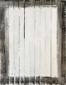 Weathered white wood with paint frame — Stock Photo