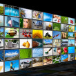 Stock Photo: Screens multimedia panel
