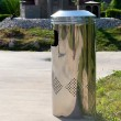 Metal rubbish bin — Stock Photo