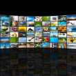Screens multimedia panel — Stock Photo #7519995