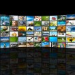 Screens multimedia panel — Stock Photo