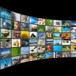 Screens multimedia panel — Stock Photo #7526362