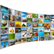 Stock Photo: Screens multimedipanel