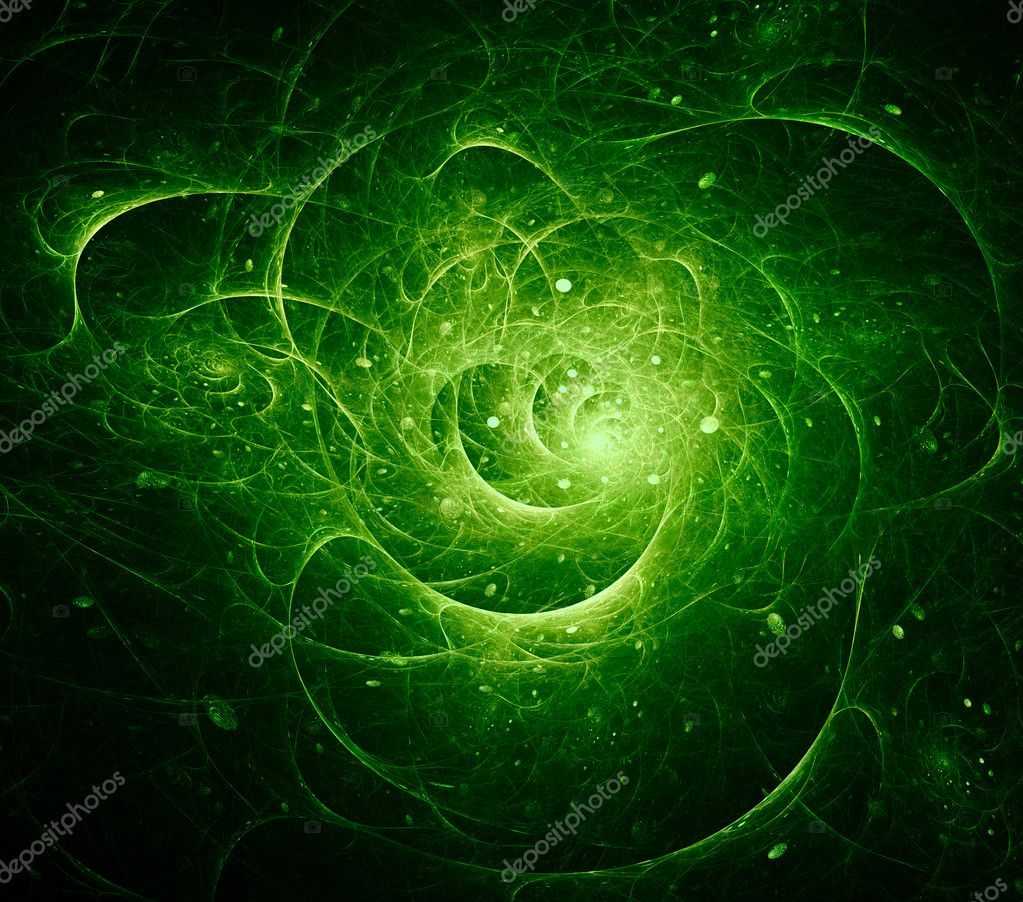 Green cosmic abstract background. Digital generated image  Stock Photo #7958463
