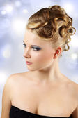 Girl with beautiful hairstyle — Stock Photo