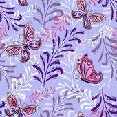Gentle violet seamless floral pattern — Stock Vector
