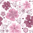 White and pink seamless floral pattern — Stock Vector