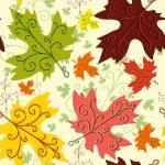 秋のシームレスなパターン — ストックベクタ #6971285