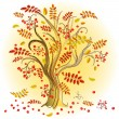 Autumn  colorful tree — Stock Vector
