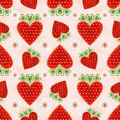 Pink effortless pattern with strawberry — Stock Vector
