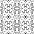 Stock Vector: White and black seamless pattern