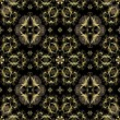 Seamless black and gold pattern - Stok Vektör