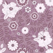 Stock Vector: Seamless violet floral pattern
