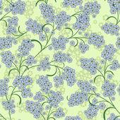 Répétition motif floral vert — Vecteur