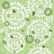 Green repeating floral pattern — Imagen vectorial