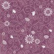 Gentle violet seamless floral pattern — Stock Vector