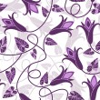 Repeating floral pattern — Stock Vector