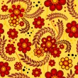 Yellow seamless floral pattern — Stock Vector #7285644