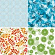 Set seamless patterns — Stock Vector #7323972