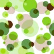 Repeating pattern with circles - Stock Vector