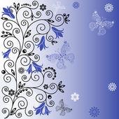 Gentle blue background — Stock Vector