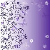 Gentle violet background — Stock Vector