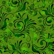 Green seamless floral pattern — Stock Vector