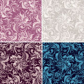 Set gentle seamless floral pattern — Stock Vector