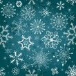 Royalty-Free Stock Imagen vectorial: Christmas blue seamless tracery