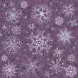 Violet Christmas seamless pattern - Imagen vectorial