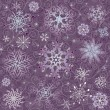 Violet Christmas seamless pattern - 