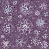Violet Christmas seamless pattern — Stock Vector