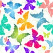 Colorful butterflies. Seamless pattern — Stock Vector