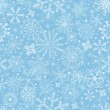 Blue pastel Christmas pattern — 图库矢量图片