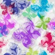 Seamless floral pattern with butterflies — Stock Vector