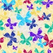 Stock Vector: Seamless pattern with butterflies