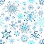 jul sömlös vita mönster — Stockvektor