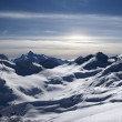 Caucasus Mountains. View from Elbrus in evening. — Stock Photo #6953901