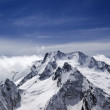 High mountains in cloud — Stock Photo
