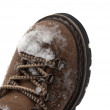 Snow-covered hiking boot — Stock Photo