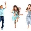 Children jumping — Stock Photo #7491190