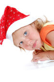 Child writing a letter to Santa Claus — Stock Photo