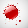 Red ink blob splash — Imagen vectorial